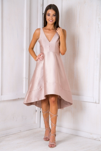 Sarah Race day dress - Nude
