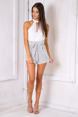 Two sides playsuit- Black/White