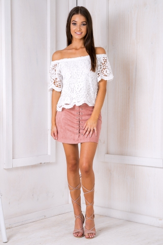 Cosmo lace top - White