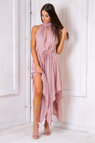 Melrose maxi dress - Dusty pink