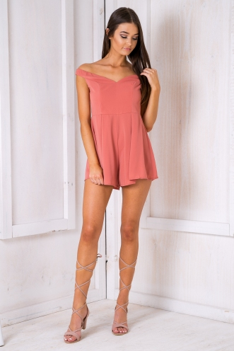 Abbia playsuit- Dusty pink