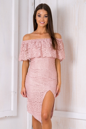 Dusk to dawn dress- Pink