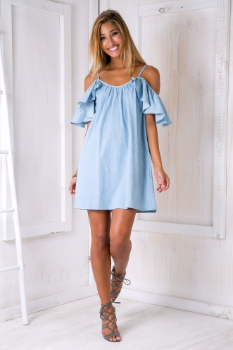 Emilia shift dress - Denim blue