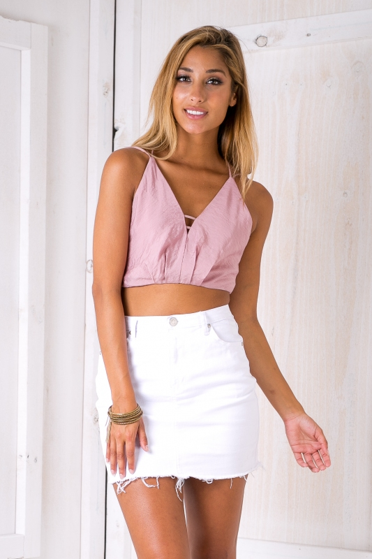 f61da332046c4 Florence crop top - Dusty pink-SALE - Stelly