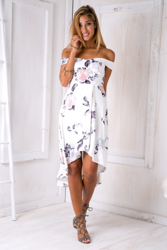 Race day lana dress - Grey/Pink