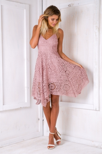 Jennifer lace dress - Mauve
