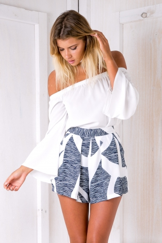 Salt & sun shorts -Blue/White