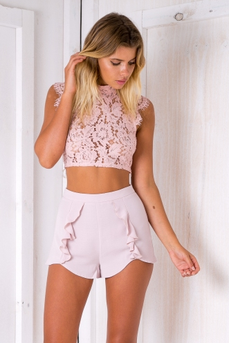 Cotton candy crop top - Dusty pink