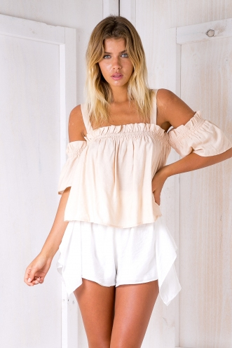 Sadie baby doll top - Apricot