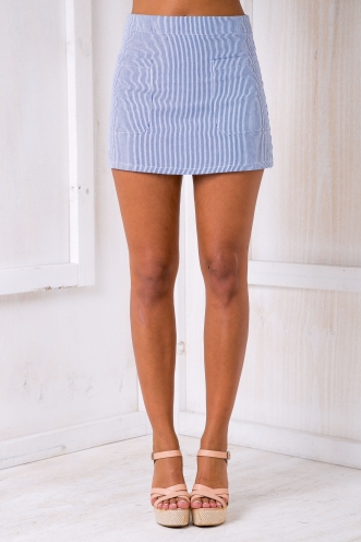 Gloria mini skirt - Blue stripe