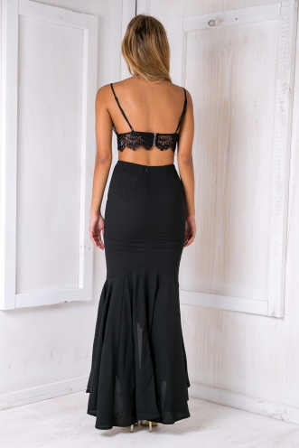 Bella Evening maxi skirt - Black
