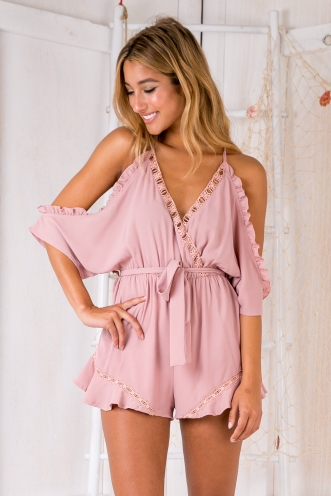 Abigail playsuit - Dusty pink
