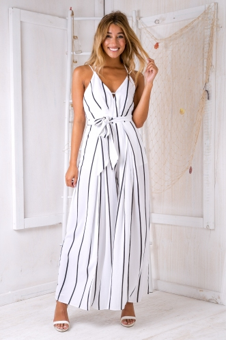 Cooper jumpsuit - White stripe