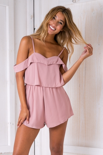 Opal playsuit - Dusty pink