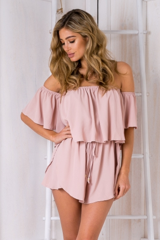 Laura playsuit -Dusty pink