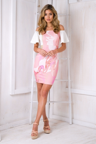 Cherie marble dress - Pink