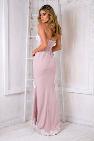 Delilah strapless evening gown - Light pink