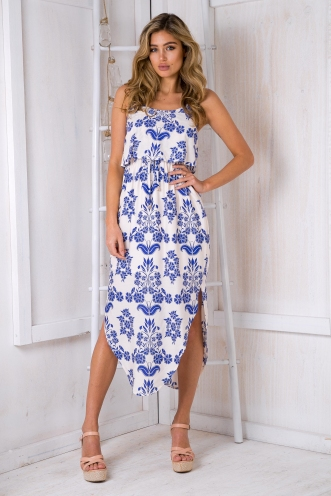 What I want relaxed maxi dress - Blue print