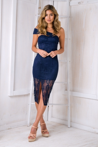 Starlight lace dress - Navy