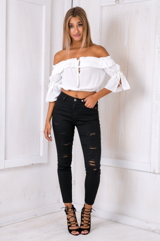 Arabella crop top- White