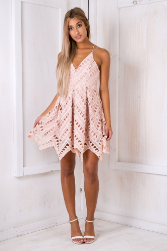 Hope lace dress - Dusty pink-SALE