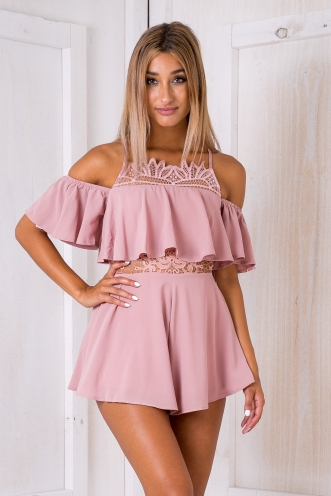 Malena playsuit - Dusty pink