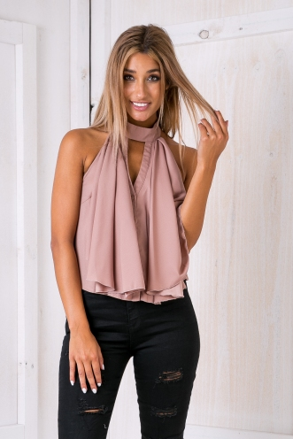 Taylor luxe top - Mocha brown