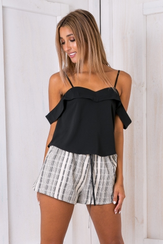 Angel crop top - Black