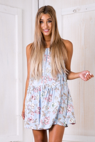 Percy dress - Blue floral