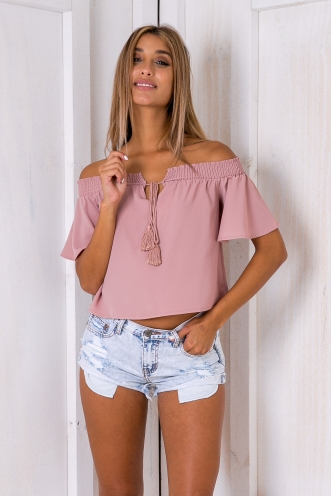 Nori crop top - Dusty pink