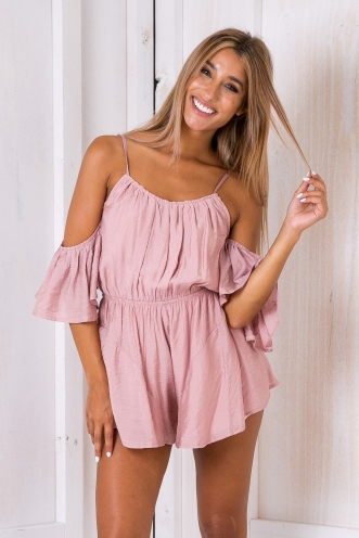 Raven playsuit - Dusty pink