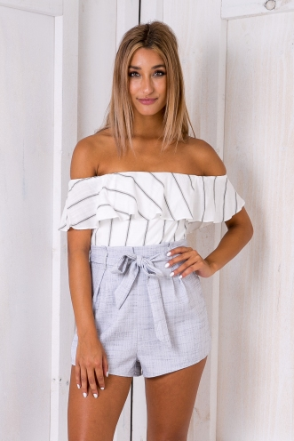 Katie playsuit - Grey stripe
