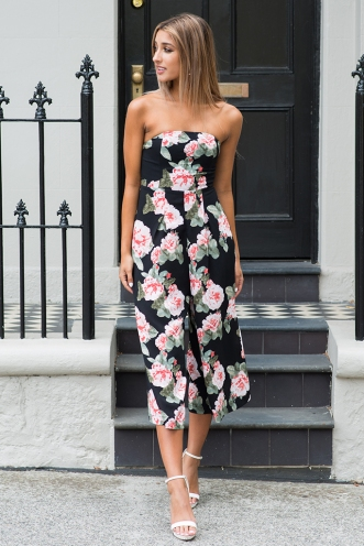 Lotus jumpsuit - Black floral