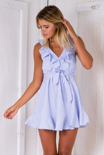 Sweet Sundays dress - Blue/White