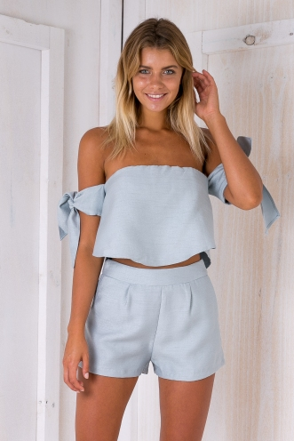 In the mist shorts - Grey/Blue