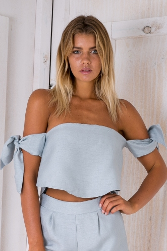 In the mist top - Grey/Blue