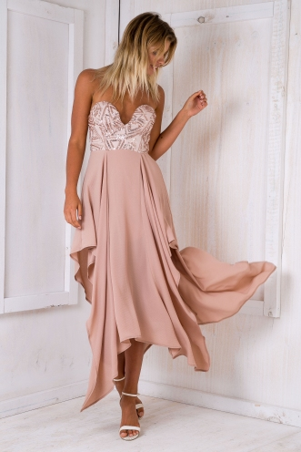 Sandie evening dress - Beige