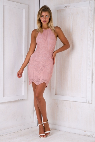 Keira lace dress - Dusty pink