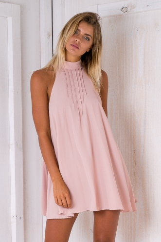 Thea shift dress - Dusty pink