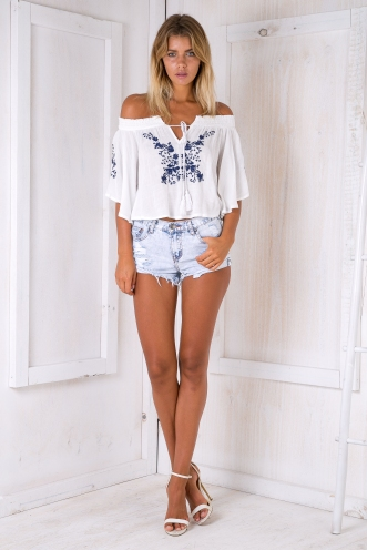 Abigail top - White