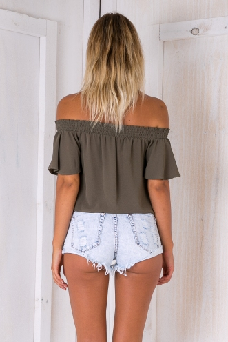 Nori crop top - Khaki