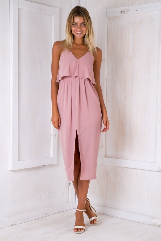 Rome maxi dress - Dusty pink