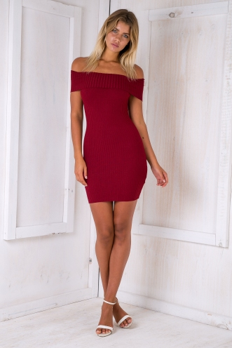 Laura dress - Maroon red
