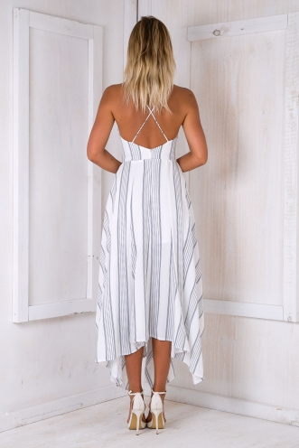Tia maxi dress - Black/White