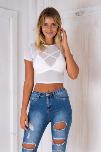 Maddy crop top- White