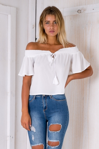 Nori crop top - White