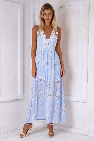 Sweet Dreams dress - Light blue print