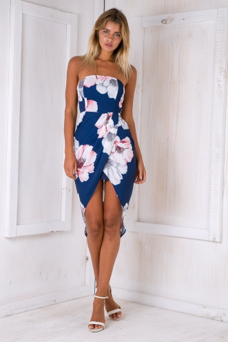 Marnie dress - Navy/Floral