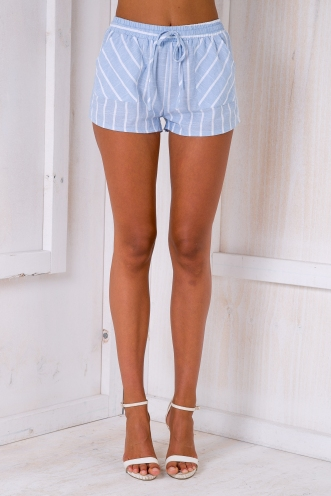Krystal shorts - Light blue/Stripe