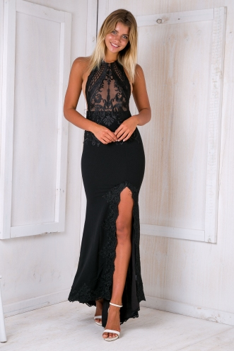 Angela evening dress - Black
